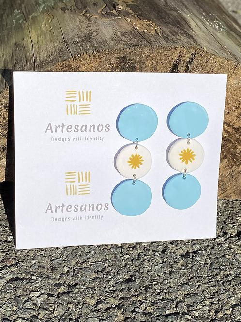 Earrings - Argentinian Flag