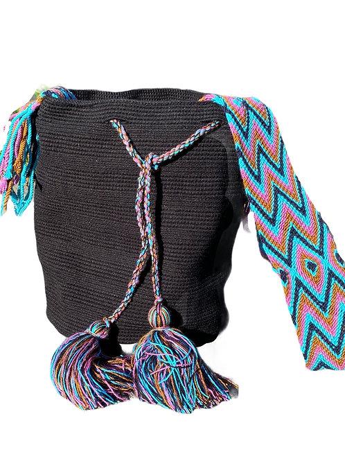 Wayuu Unicolor bag - Dark -