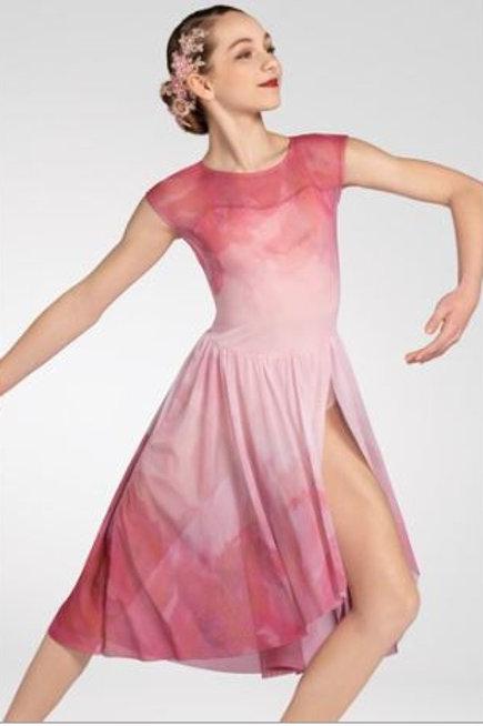 Ballet/ Modern  Pink tie-dye Floral Dress