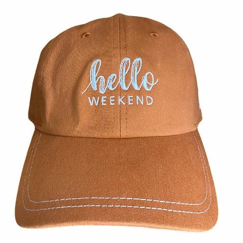 Hello Weekend Fall Cap