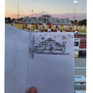 Football Stadium Sketch