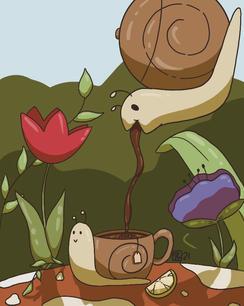 Snail Tea Party