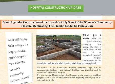 TERREWODE Women's Community Hospital Construction Update - April 30, 2018