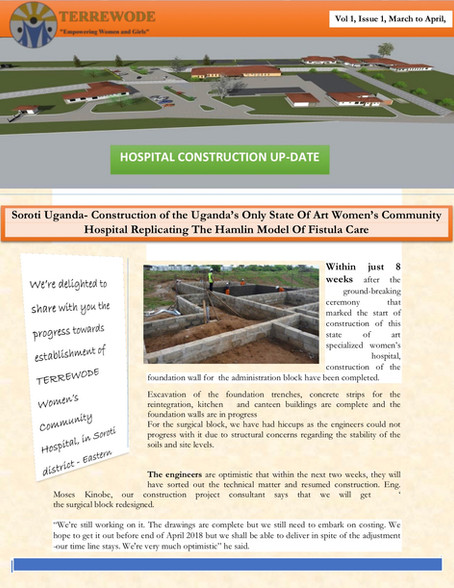 TERREWODE Women's Community Hospital Construction Update - April 30, 2018