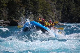 Raftin im Fluss Baker von Chile Chico