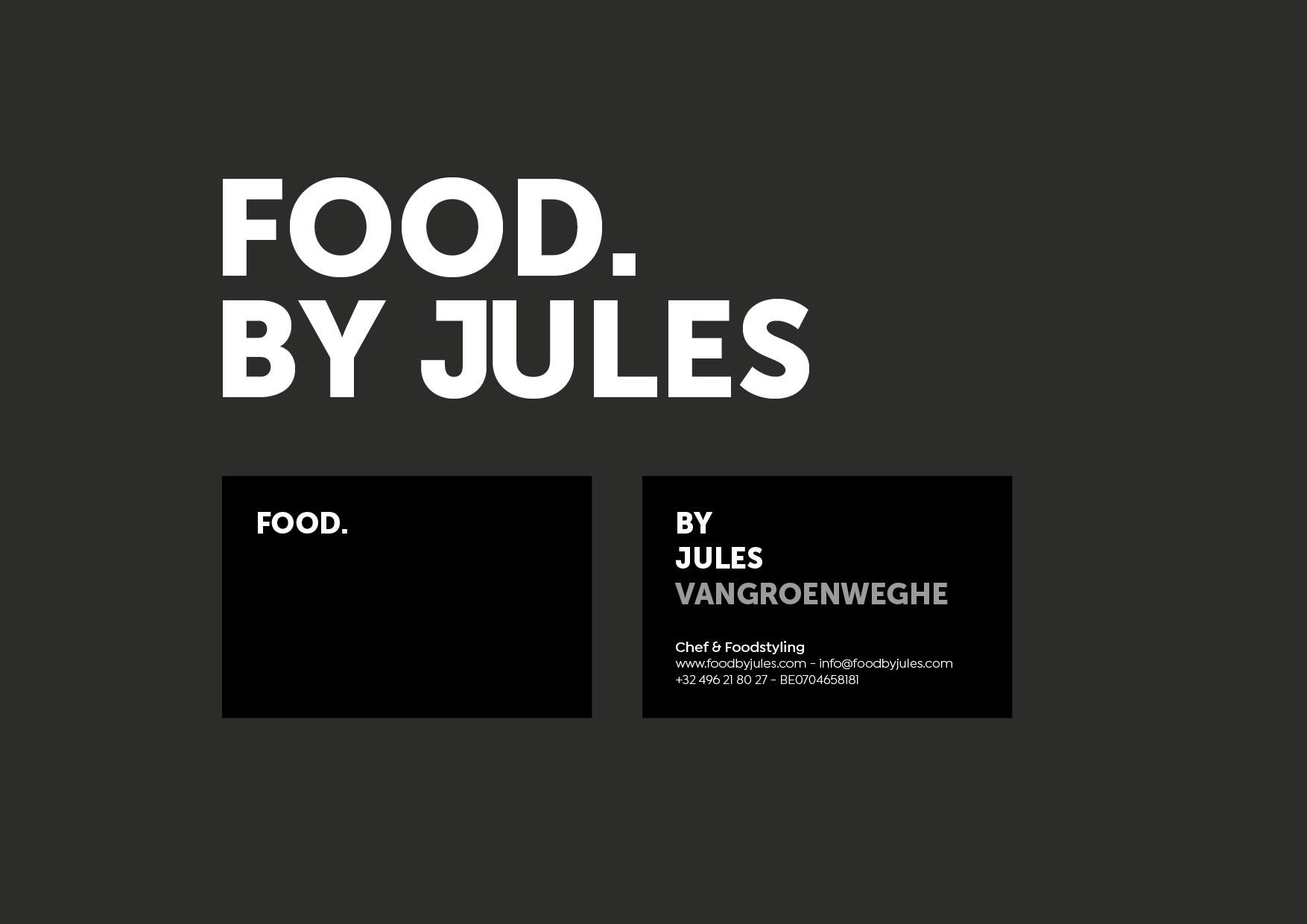 FOOD. BY JULES