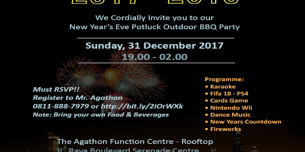 New Year's Eve Potluck Outdoor BBQ Party