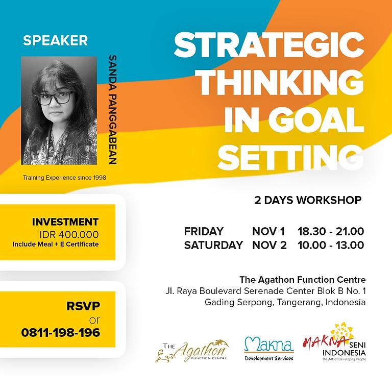 Strategic Thinking In Goal Setting