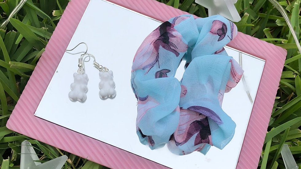 White Gummy Bear Earrings