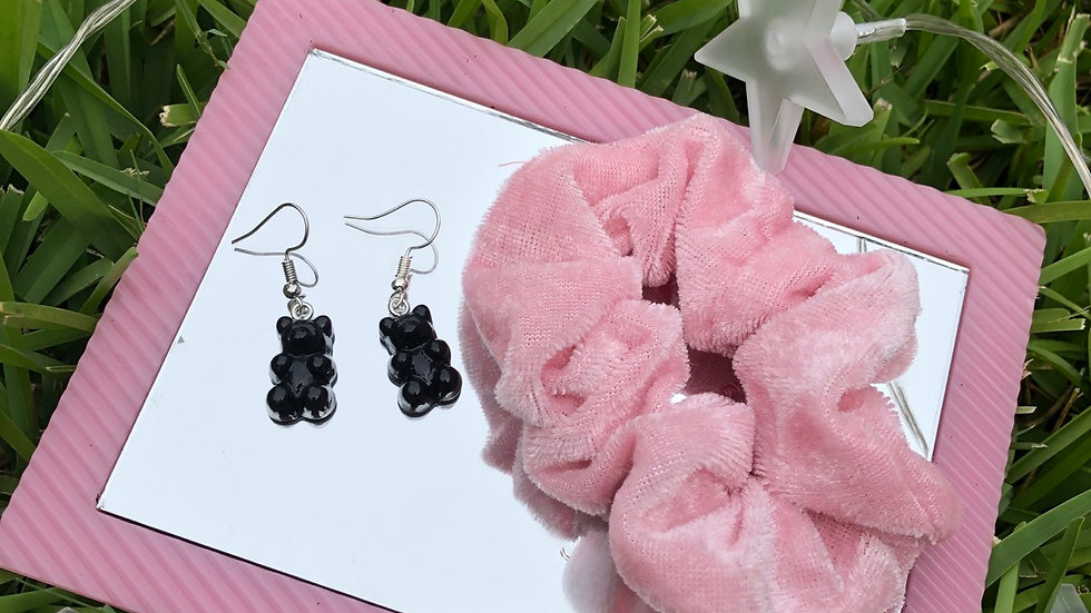 Black Gummy Bear Earrings