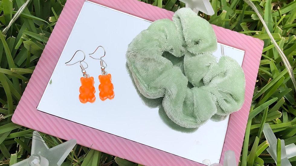 Orange Gummy Bear earrings