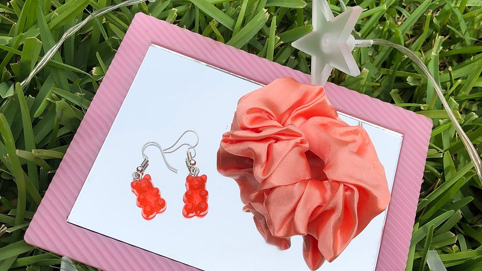 Red Gummy Bear earrings