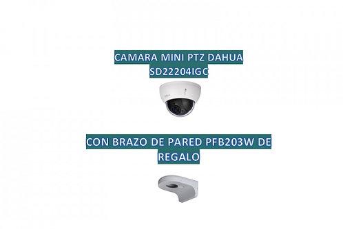 DAHUA SD22204IGCPAK - Camara mini PTZ de 2 MP HDCVI