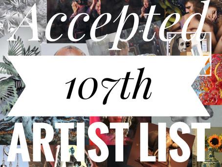 Congratulations!!! 2020 Annual Exhibition Exhibitors