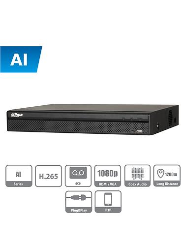 DAHUA XVR5104H-I- DVR de 4 Canales con IA de 5 Megapixeles Lite