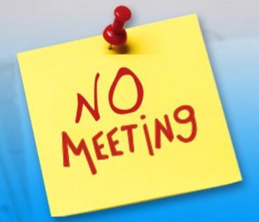 April Board Meeting Cancelled