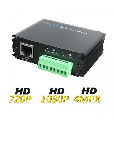 UTEPO UTP104PHD - Transceptor pasivo de 4 canales de video HDCVI