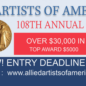 ALLIED ARTISTS OF AMERICA  TO HOST 108TH EXHIBITION
