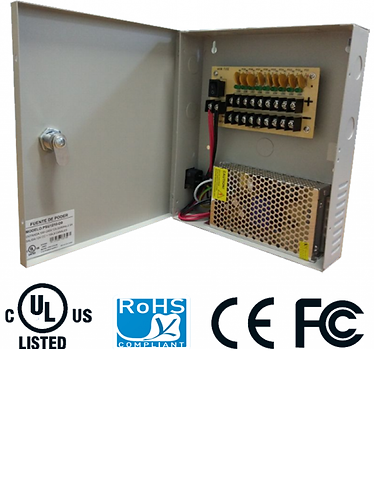 SAXXON PSU1210D9 - Fuente de poder regulada 9 canales