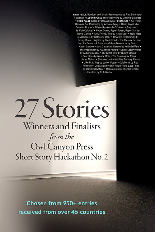 27 Stories: The Winter 2018 Owl Canyon Press Hackathon Contest Winners