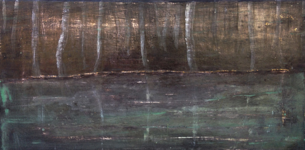 UNTITLED Tempera grassa on canvas 25x50cm (private collection) 2016