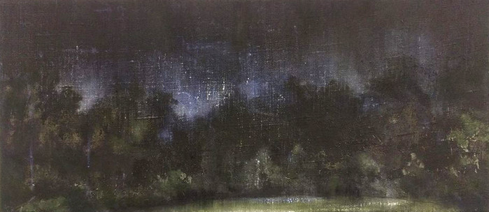 UNTITLED Punic wax and Tempera grassa on canvas 25x60cm 2017