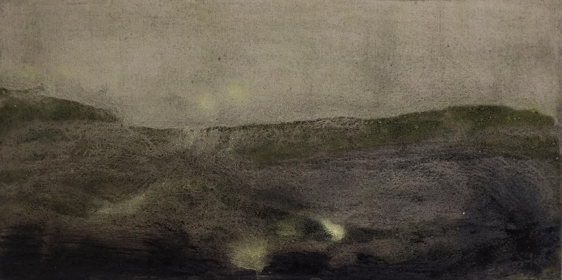 UNTITLED casein on canvas 25x50cm  2018