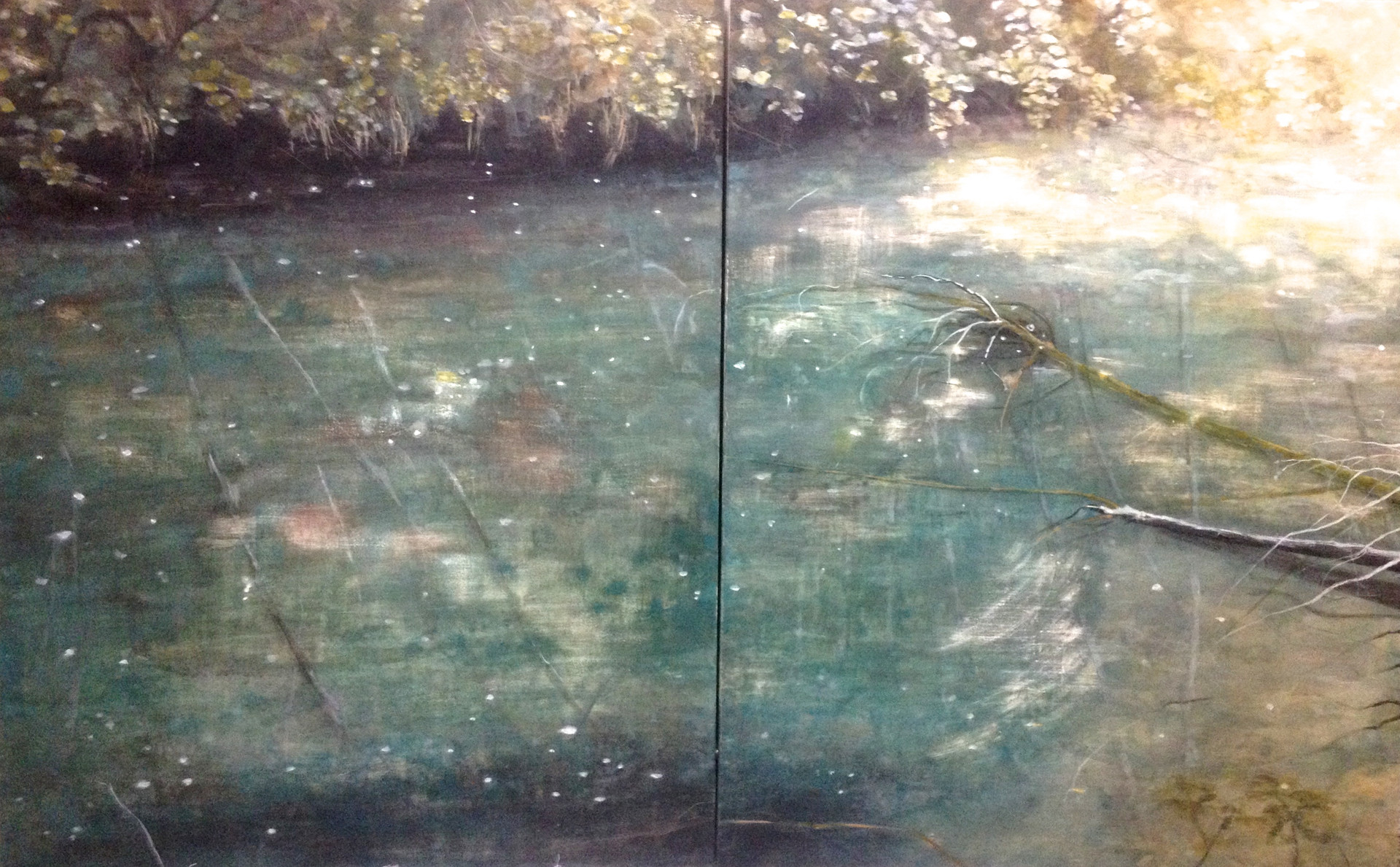 ISOLA SANTA Tempera grassa on wooden panel (diptych) 140x180cm (private collection) 2015