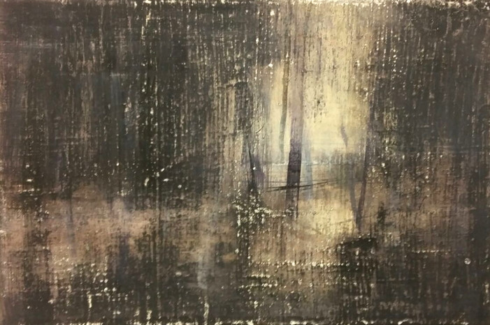 UNTITLED Tempera grassa on canvas 20x30cm (private collection) 2016