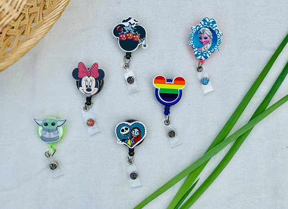 Disney-Themed Badge Reels