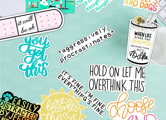 Words, Thoughts, and Phrases Stickers