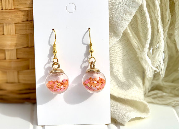 Shaker Ball Drop Earrings
