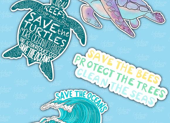 Save the Seas Stickers