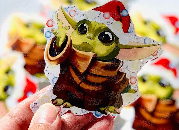 Baby Yoda Christmas Stickers