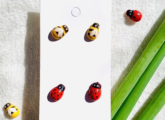 Ladybug/Bumblebee Stud Earrings