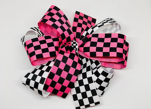 Checkered Flag Racing Bow