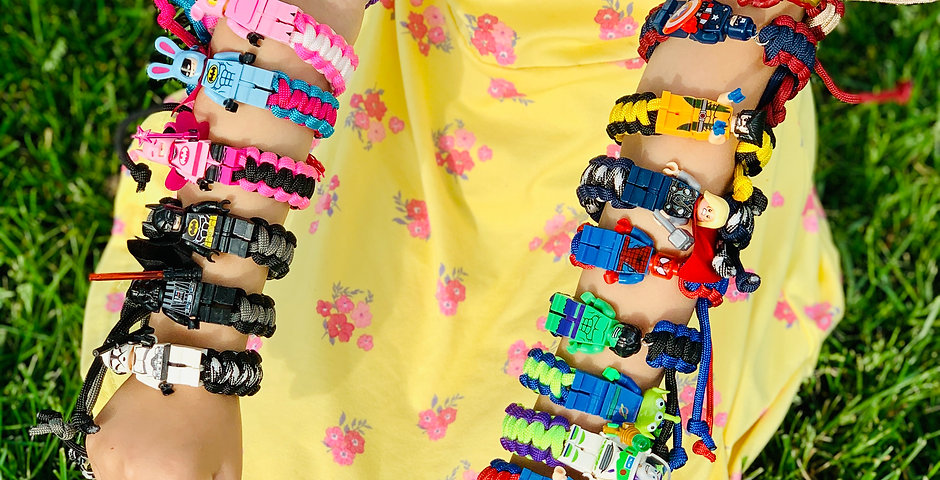 Lego Paracord Bracelets