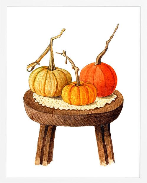 Pumpkins on Chair