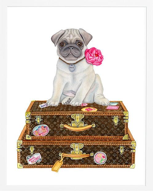 Pug on LV Bags
