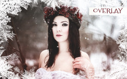 Holiday digital photo snow frames