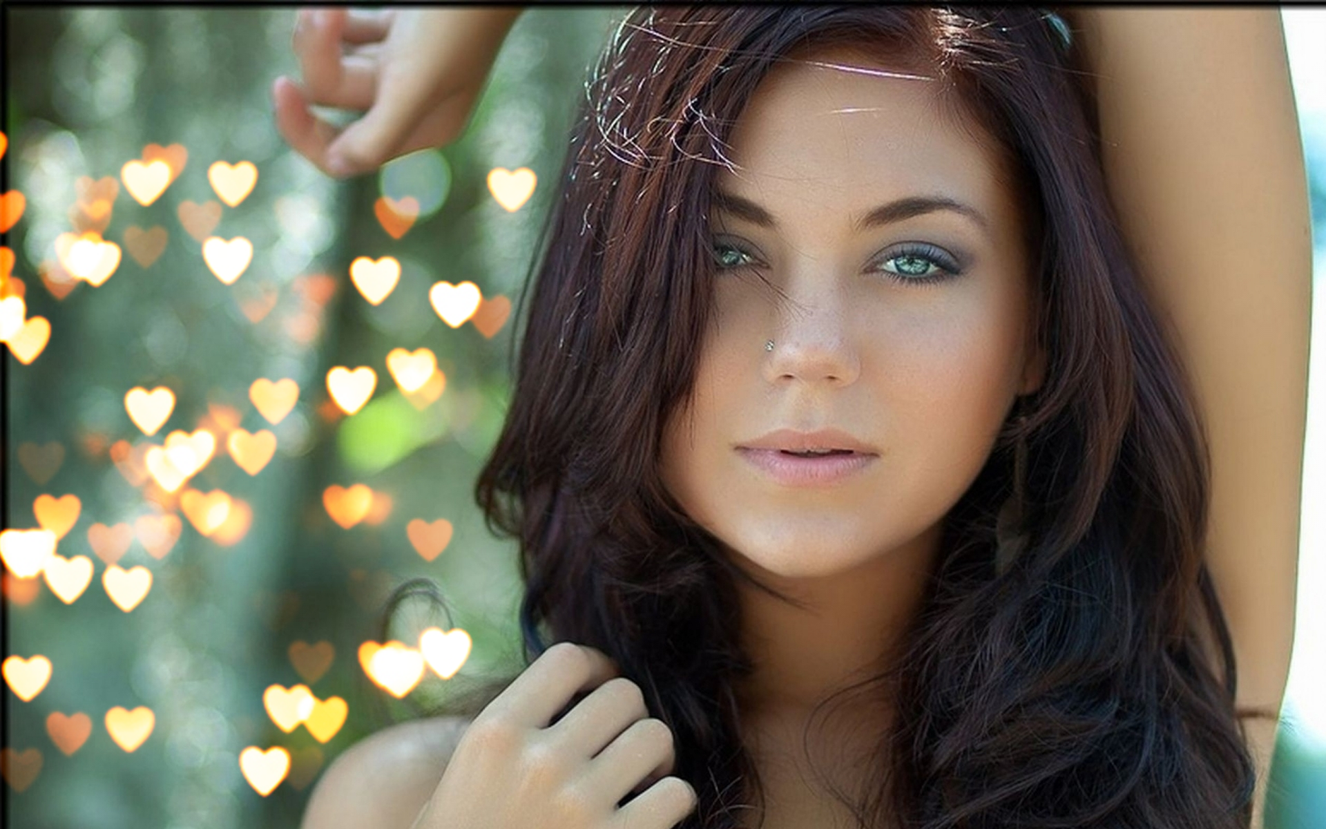 Bokeh effects overlays portrait