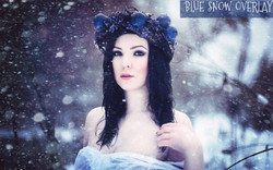 Blue snow texture overlays photoshop