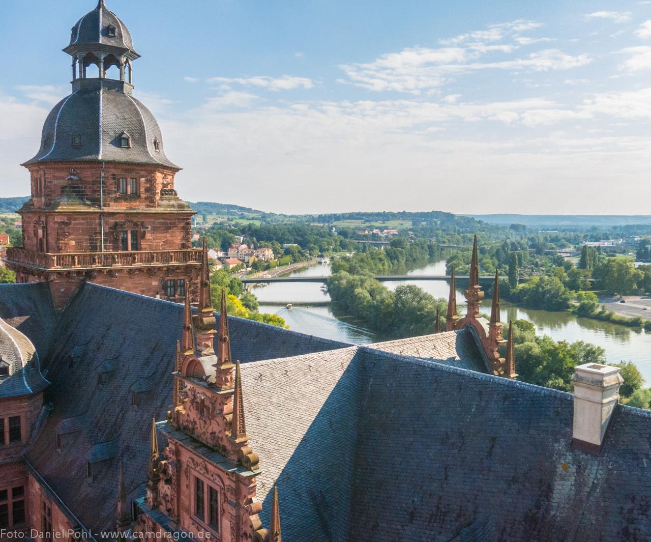 Schloss-Aschaffenburg-Drohne