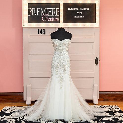 Dress 149:   Casablaca 2321  Strapless Beaded Wedding Dress