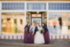 Rebecca and Bridesmaids in front of Prem