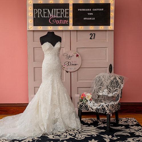 Dress 27:  Strapless Lace Mermaid Wedding Dress