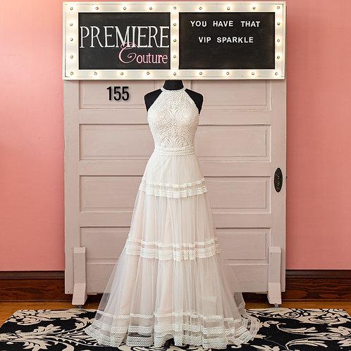 Dress 155:   Wilderly Bride Style:  Grace Boho Halter Wedding Dress