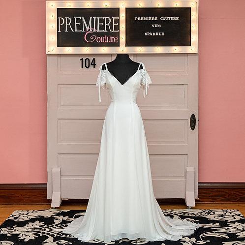 Dress 104: Flowy Chiffon Wedding Dress, Wilderly Bride F107