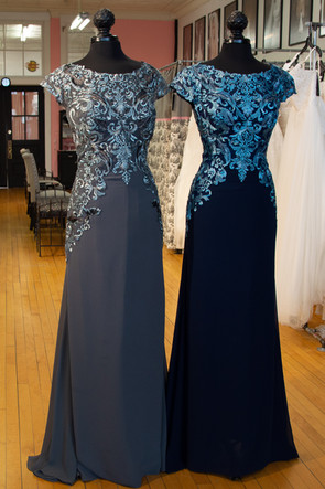 216291 Pewter Gray and Navy Turquoise