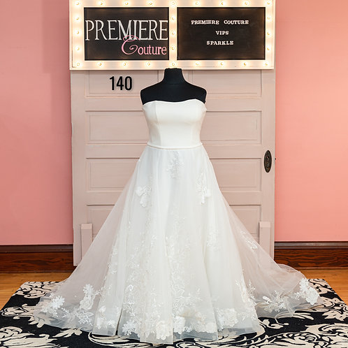 Dress 140:   Allure 9724 Strapless Sparkle Wedding Dress
